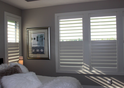 Eagle View 4 - Hunter Douglas NewStyle® Plantation Shutters with hidden tilt, customized divider option