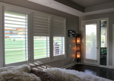 Eagle View 7 - Hunter Douglas NewStyle® Plantation Shutters with hidden tilt, customized divider option