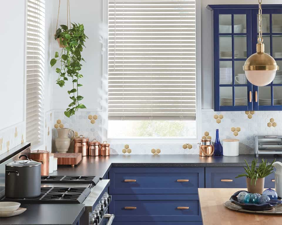 EverWood Alternative Wood Blinds for homes in Lincoln and Omaha, Nebraska (NE) Giving Kitchens Light Control