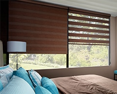 Designer Banded Shades for homes in Lincoln, Nebraska (NE) with Light Control and Customization