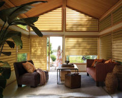 Hunter Douglas Roman Shades for Living Rooms in Lincoln & Omaha, Nebraska (NE)